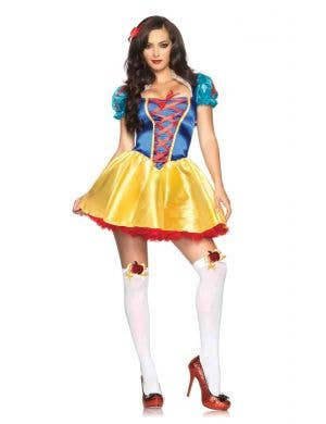 Snow White Sexy Women's Fancy Dress Costume Front View