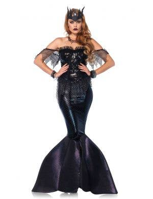 Sexy Women's Black Mermaid Halloween Costume Front View