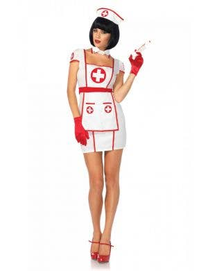 Sexy Women's Nurse Fancy Dress Costume Front View