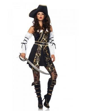 Sexy Black Sea Pirate Women's Costume Main Image