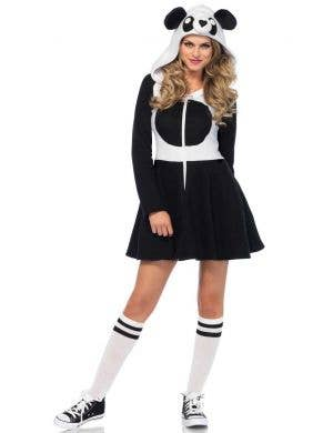Women's Cozy Fleecy Panda Animal Fancy Dress Costume Front