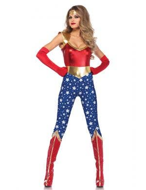 Sexy Wonder Woman Fancy Dress Costume for Women