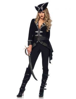Deluxe Pirate Captain Women's Fancy Dress Costume Main Image