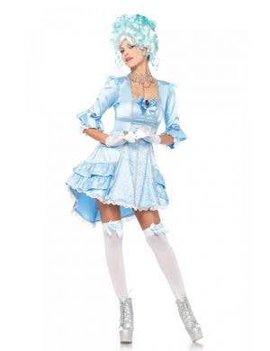 Women's Blue French Queen Marie Antoinette Costume Front View