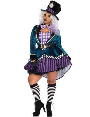 Plus Size Mad Hatter Alice in Wonderland Costume For Women