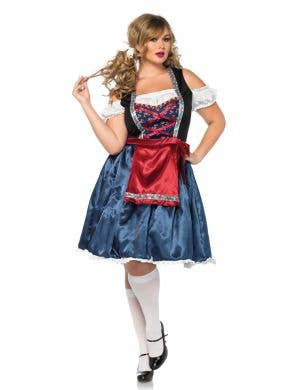 Deluxe Plus Size German Beer Girl Women's Costume Main Image