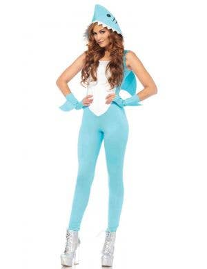 Sexy Women's Shark Animal Fancy Dress Costume Front View