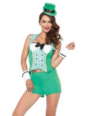 Sexy Women's Darling Leprechaun St Patricks Day Irish Costume Front View