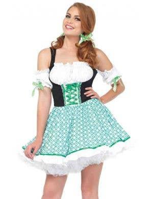 Sexy Women's Clover Cutie St Patricks Day Irish Costume Front View