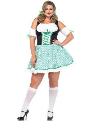 Sexy Women's Plus Size St Patricks Day Irish Costume Front View