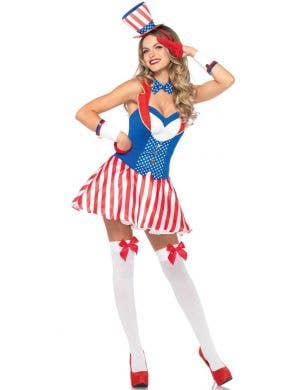 Women's July 4th Sexy Fancy Dress Costume Front Image