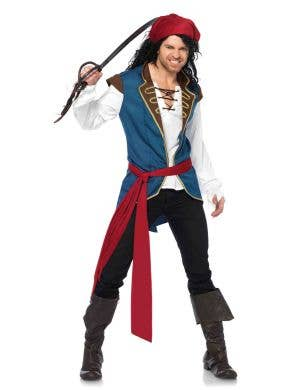 Men's Pirate Fancy Dress Costume Main Image