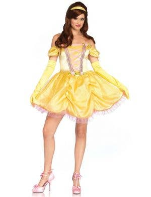Women's Sexy Disney Princess Belle Costume Front Image