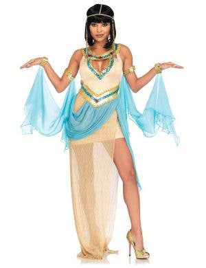 Sexy Queen Cleopatra Women's Egyptian Costume Front View