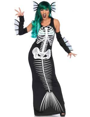Skeleton Siren Mermaid Women's Halloween Costume