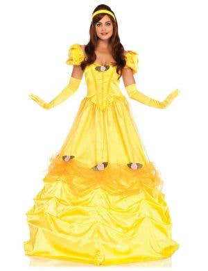 Women's Long Princess Belle Deluxe Costume Front Image