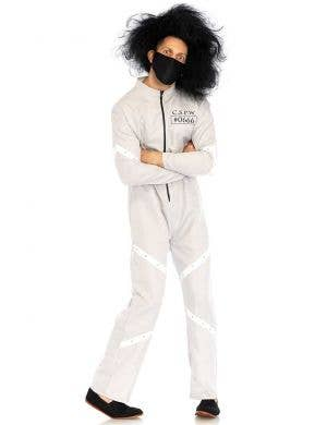 Men's Psycho Asylum Patient Halloween Fancy Dress Costume Main Image