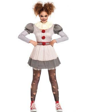 Creepy Clown Women's Pennywise Halloween Costume