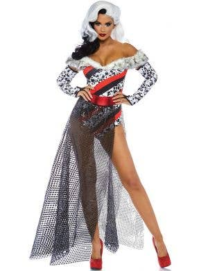 Dalmatian Dame Women's Sexy Cruella Costume