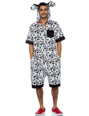 Dalmatian Men's Dog Jumpsuit Costume