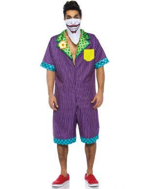 Super Villain Men's Joker Fancy Dress Costume