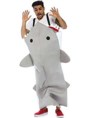Shark Attack Men's Animal Fancy Dress Costume