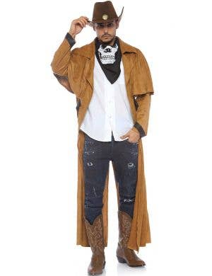 Wild West Cowboy Men's Tan Costume Jacket