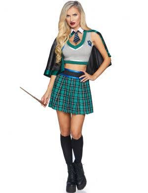 Sinister Spellcaster Women's Sexy Slytherin Costume
