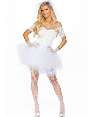 Blushing Bride Women's Sexy White Wedding Costume