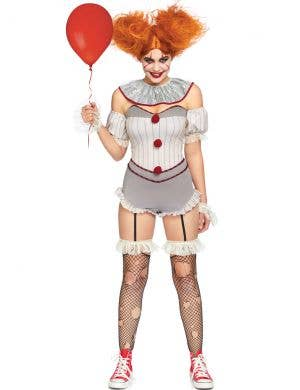 Killer Sewer Clown Women's Sexy Pennywise Halloween Costume