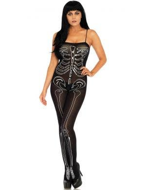 Skeleton Semi-Opaque Women's Bodystocking Costume