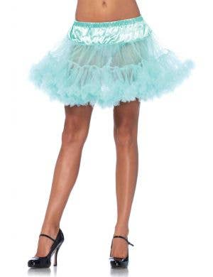 Turquoise Women's Thigh Length Ruffled Petticoat