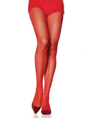 Red Fishnet Sexy Costume Pantyhose