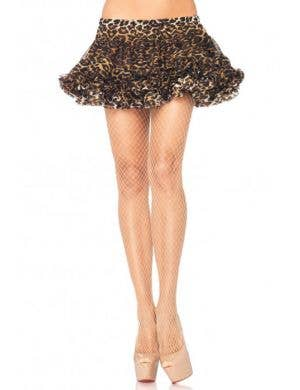 Women's Beige Industrial Net Full Length Costume Stockigns