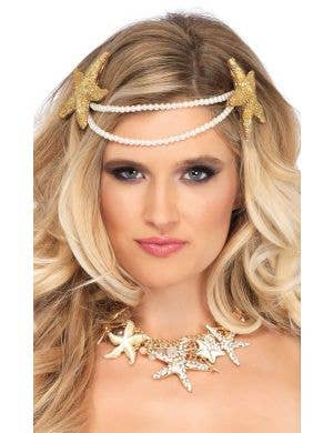 Mermaid Pearl Starfish Women's Headband Costume Accessory