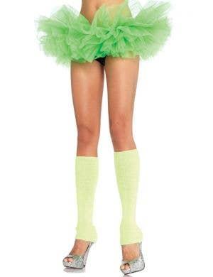 Ruffled Women's Neon Green Tutu Costume Accessory