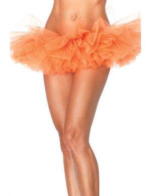 Neon Orange Women's Organza Tutu Costume Accessory