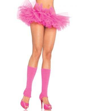 Ruffled Neon Pink Women's Organza Tutu Costume Accessory
