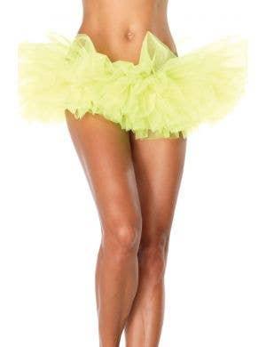 Ruffled Women's Neon Yellow Tutu Costume Accessory