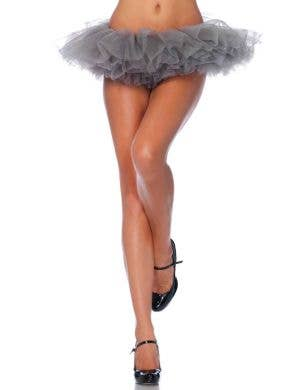 Women's Ruffled Grey Tulle Tutu Costume Accessory
