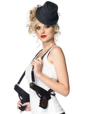 Gangster Double Gun 1920's Costume Accessory Holster Set Main