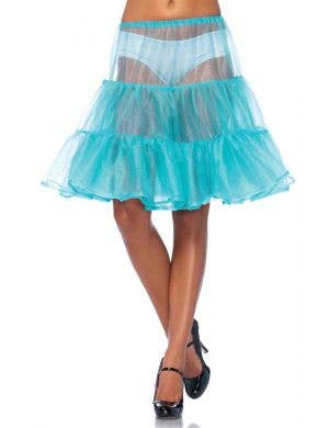 Aqua Blue Women's Knee Length Costume Petticoat
