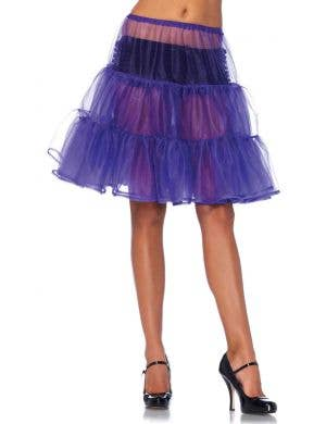 Purple Women's Knee Length Costume Petticoat