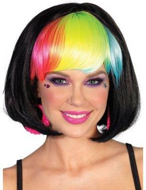 Pop Rainbow Bang Bob Women's Wig