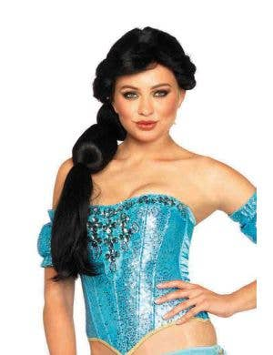 Princess Jasmine Women's Deluxe Black Costume Wig Main Image