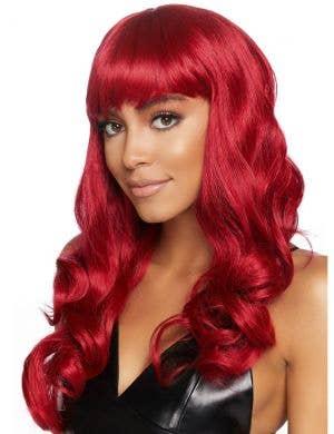 Long Deluxe Women's Wavy Red Costume Wig