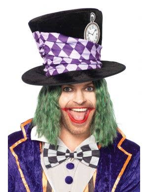 Adult's Deluxe Mad Hatter Black Top Hat Costume Accessory