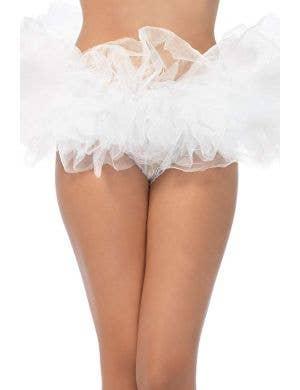 Fluffy White Layered Tutu Women's Costume Accessory
