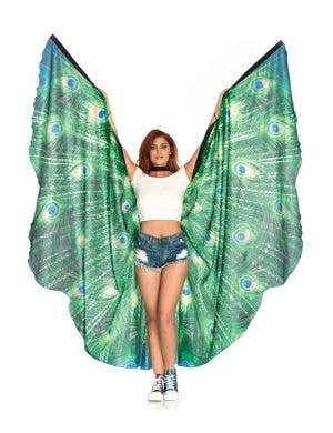Peacock Feather Wing Cape Adult's Costume Accessory