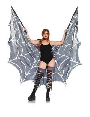 Spiderweb Halter Wing Cape Adults Costume Accessory